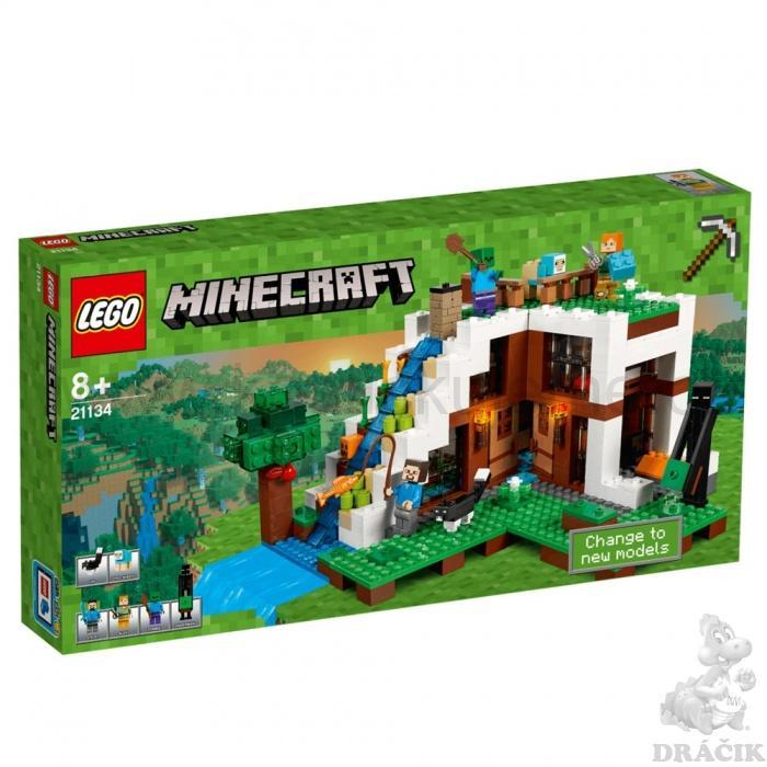 08c89143a Lego Minecraft 21134 Základna ve vodopádu | kostickujeme.cz